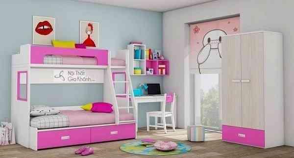 Sắm giường tầng cho bé trai và bé gái xinh xắn và an toàn (4)