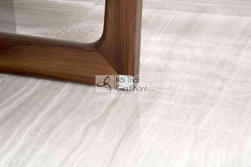 Bàn trà (Bàn Sofa) thấp hình tròn mặt đá gỗ sang trọng BT1911-4D