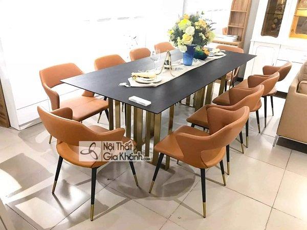 Bộ bàn ăn ghế gỗ 10 ghế