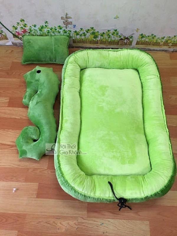 giường ngủ 1m2 màu xanh lá