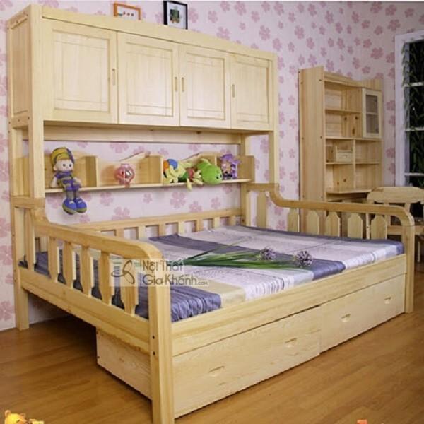 giường ngủ gỗ cho em bé