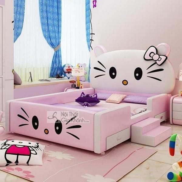 giường ngủ công chúa màu hồng