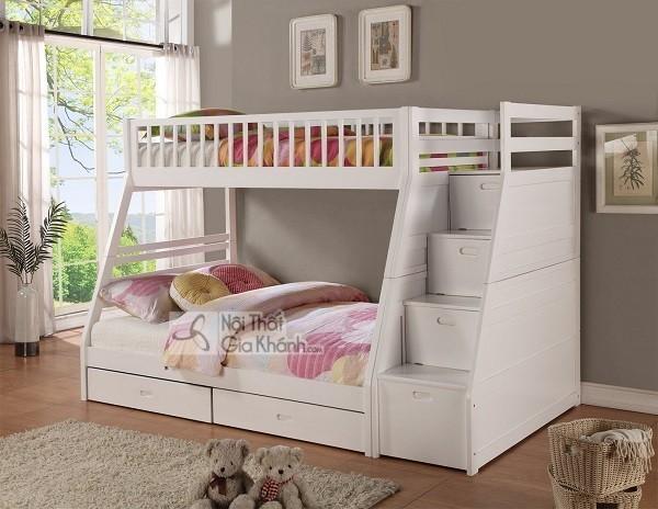giường ngủ trẻ em hộp gỗ thông