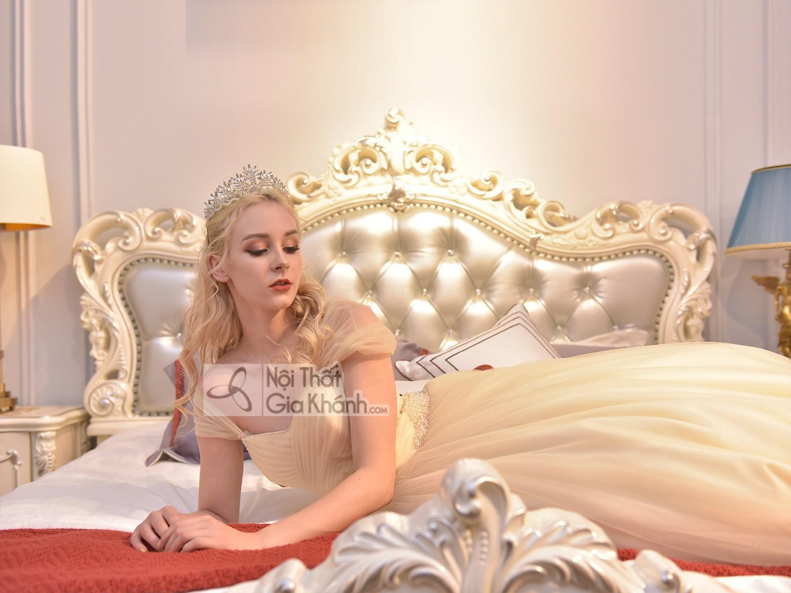 giuong ngu tan co dien phong cach phap gi8803h 1 - Giường ngủ tân cổ điển phong cách Pháp GI8803H