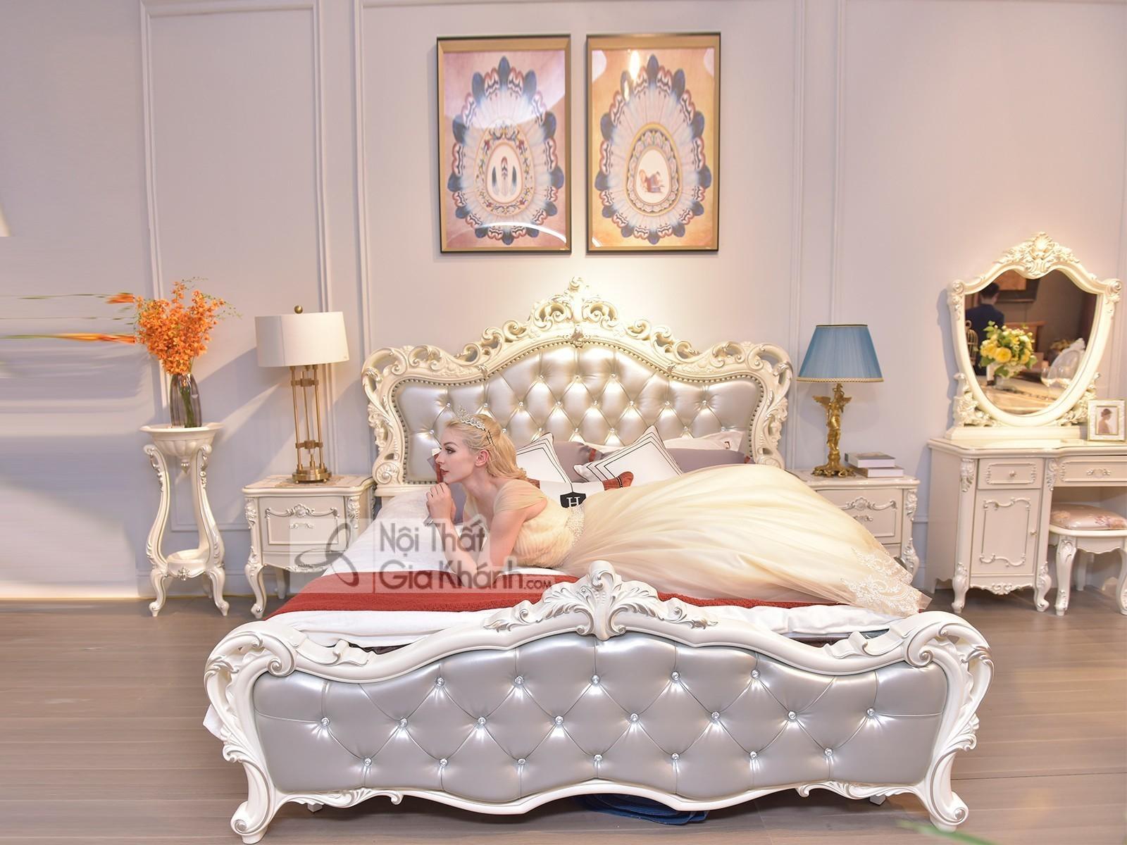 giuong ngu tan co dien phong cach phap gi8803h - Giường ngủ tân cổ điển phong cách Pháp GI8803H
