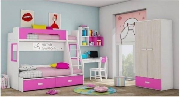 Giường tầng trẻ em cho bé gái