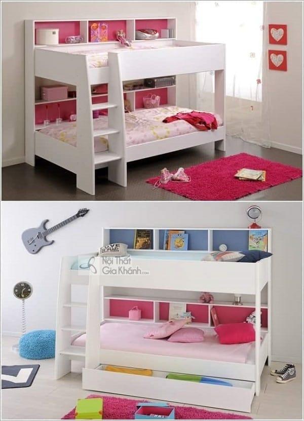 13 mẫu giường kèm bàn học trẻ em và tủ quần áo kết hợp bàn học - 10 mau giuong kem ban hoc tre em tuyet dep 1