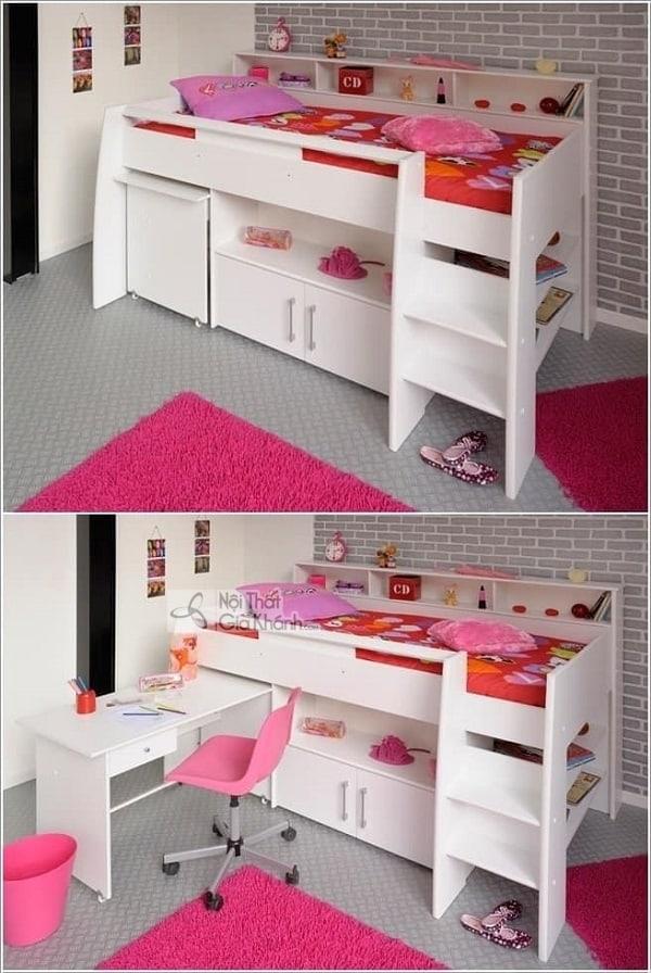 13 mẫu giường kèm bàn học trẻ em và tủ quần áo kết hợp bàn học - 10 mau giuong kem ban hoc tre em tuyet dep 5