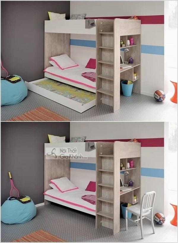 13 mẫu giường kèm bàn học trẻ em và tủ quần áo kết hợp bàn học - 10 mau giuong kem ban hoc tre em tuyet dep 6