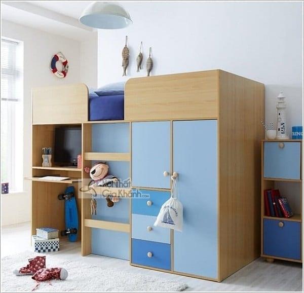 13 mẫu giường kèm bàn học trẻ em và tủ quần áo kết hợp bàn học - 10 mau giuong kem ban hoc tre em tuyet dep 9