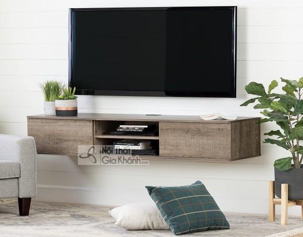 Các mẫu kệ tivi treo tường đẹp, tiết kiệm diện tích - cac mau ke tivi treo tuong dep tiet kiem dien tich 1