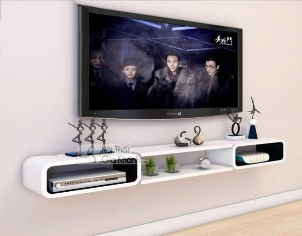 Các mẫu kệ tivi treo tường đẹp, tiết kiệm diện tích - cac mau ke tivi treo tuong dep tiet kiem dien tich 10