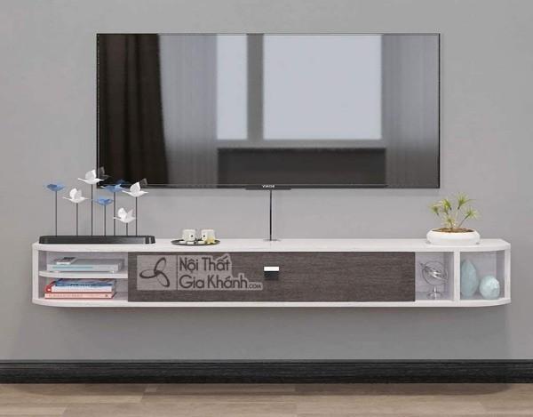 Các mẫu kệ tivi treo tường đẹp, tiết kiệm diện tích - cac mau ke tivi treo tuong dep tiet kiem dien tich 11