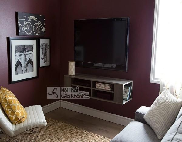 Các mẫu kệ tivi treo tường đẹp, tiết kiệm diện tích - cac mau ke tivi treo tuong dep tiet kiem dien tich 16