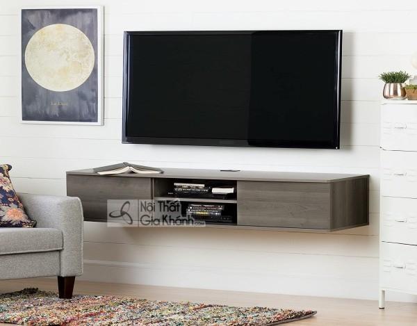 Các mẫu kệ tivi treo tường đẹp, tiết kiệm diện tích - cac mau ke tivi treo tuong dep tiet kiem dien tich 18