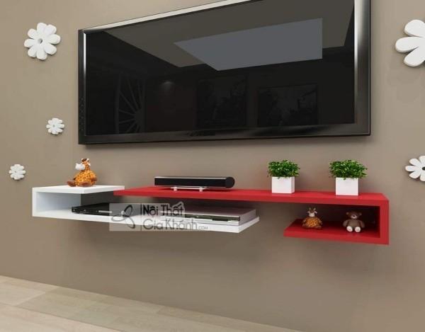 Các mẫu kệ tivi treo tường đẹp, tiết kiệm diện tích - cac mau ke tivi treo tuong dep tiet kiem dien tich 19
