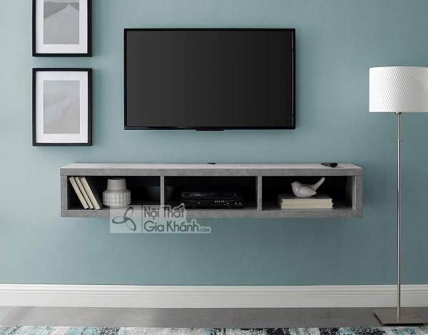 Các mẫu kệ tivi treo tường đẹp, tiết kiệm diện tích - cac mau ke tivi treo tuong dep tiet kiem dien tich 2