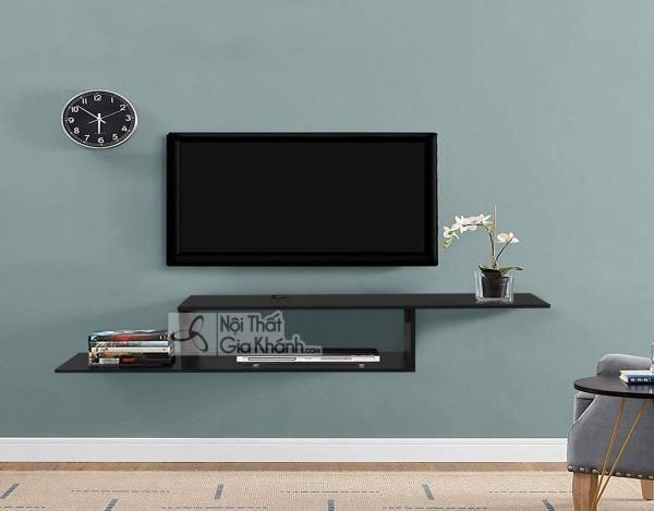 Các mẫu kệ tivi treo tường đẹp, tiết kiệm diện tích - cac mau ke tivi treo tuong dep tiet kiem dien tich 20