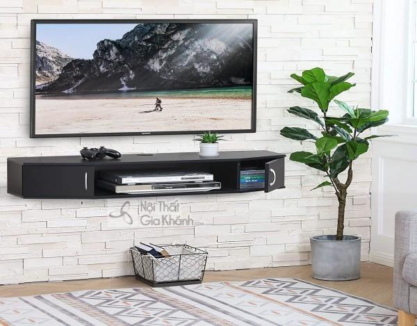 Các mẫu kệ tivi treo tường đẹp, tiết kiệm diện tích - cac mau ke tivi treo tuong dep tiet kiem dien tich 21