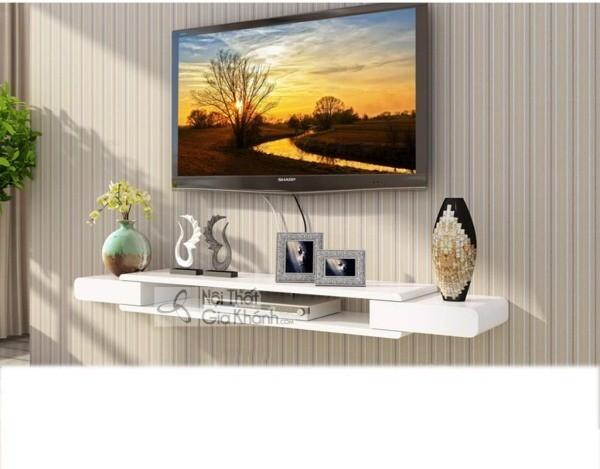 Các mẫu kệ tivi treo tường đẹp, tiết kiệm diện tích - cac mau ke tivi treo tuong dep tiet kiem dien tich 22