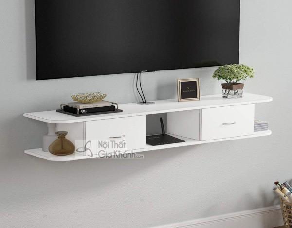 Các mẫu kệ tivi treo tường đẹp, tiết kiệm diện tích - cac mau ke tivi treo tuong dep tiet kiem dien tich 24