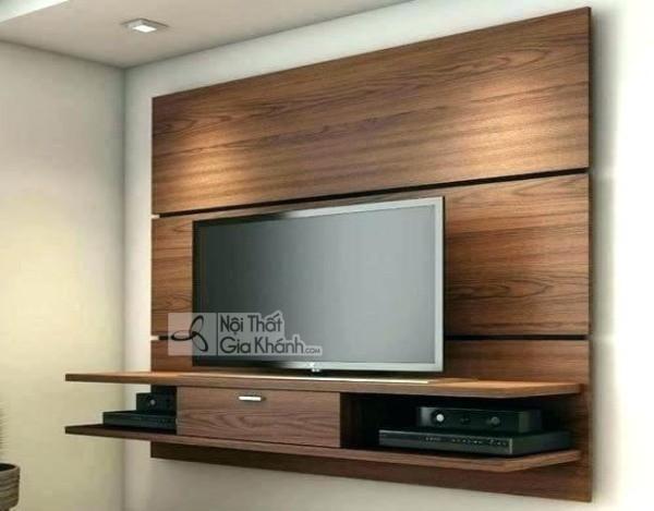 Các mẫu kệ tivi treo tường đẹp, tiết kiệm diện tích - cac mau ke tivi treo tuong dep tiet kiem dien tich 25