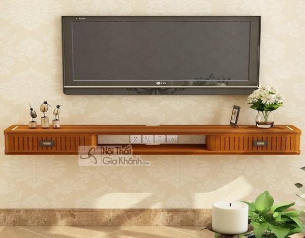 Các mẫu kệ tivi treo tường đẹp, tiết kiệm diện tích - cac mau ke tivi treo tuong dep tiet kiem dien tich 27