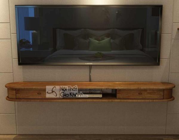 Các mẫu kệ tivi treo tường đẹp, tiết kiệm diện tích - cac mau ke tivi treo tuong dep tiet kiem dien tich 29