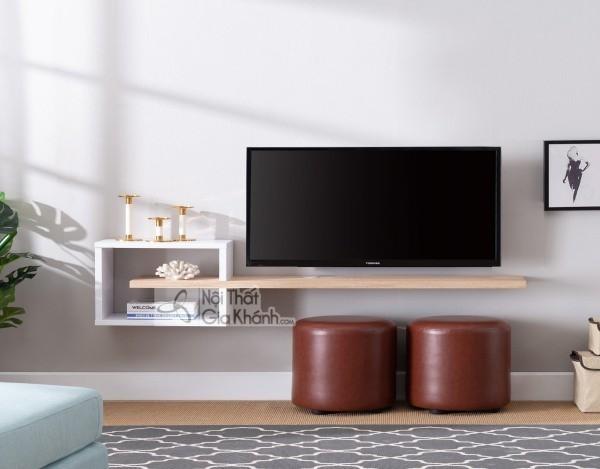 Các mẫu kệ tivi treo tường đẹp, tiết kiệm diện tích - cac mau ke tivi treo tuong dep tiet kiem dien tich 30