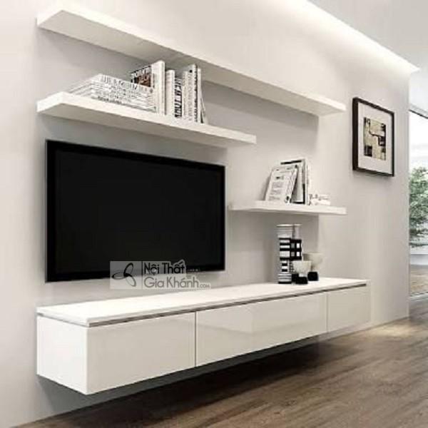 Các mẫu kệ tivi treo tường đẹp, tiết kiệm diện tích - cac mau ke tivi treo tuong dep tiet kiem dien tich 33