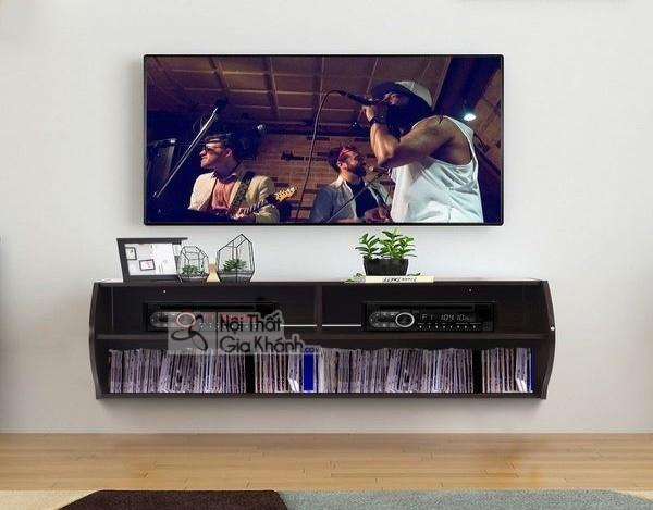 Các mẫu kệ tivi treo tường đẹp, tiết kiệm diện tích - cac mau ke tivi treo tuong dep tiet kiem dien tich 34