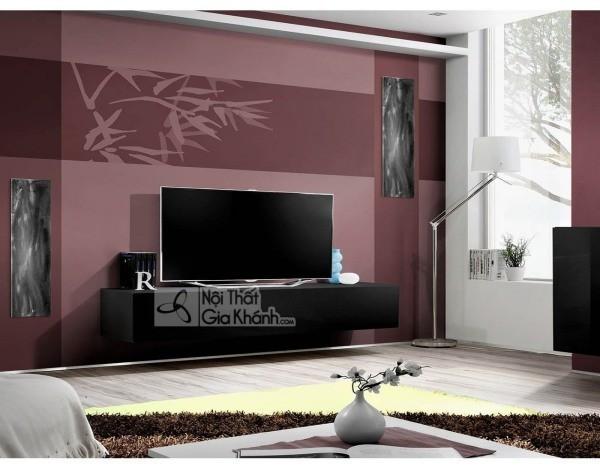 Các mẫu kệ tivi treo tường đẹp, tiết kiệm diện tích - cac mau ke tivi treo tuong dep tiet kiem dien tich 36