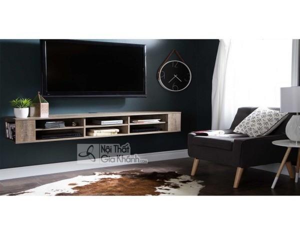 Các mẫu kệ tivi treo tường đẹp, tiết kiệm diện tích - cac mau ke tivi treo tuong dep tiet kiem dien tich 38