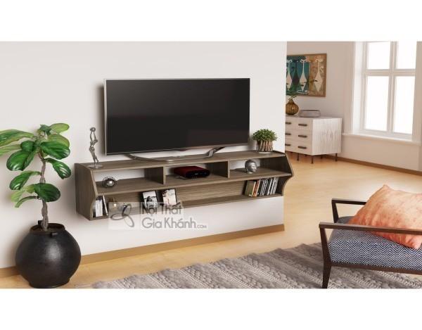 Các mẫu kệ tivi treo tường đẹp, tiết kiệm diện tích - cac mau ke tivi treo tuong dep tiet kiem dien tich 39