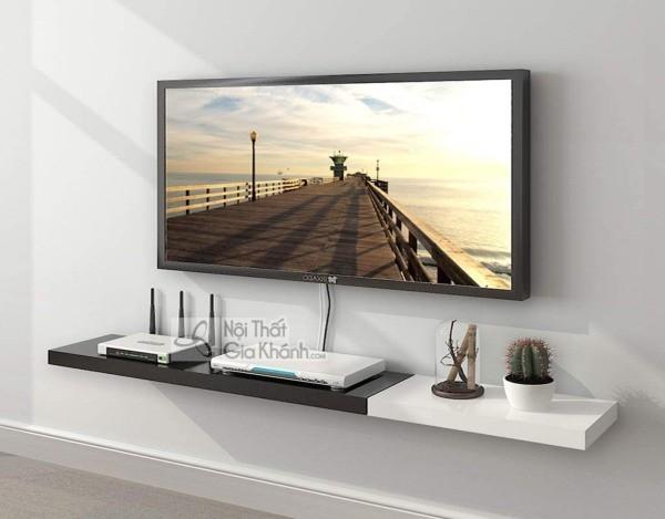 Các mẫu kệ tivi treo tường đẹp, tiết kiệm diện tích - cac mau ke tivi treo tuong dep tiet kiem dien tich 4