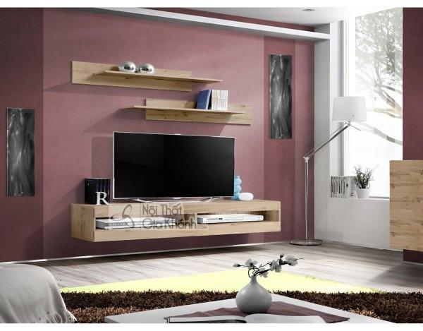 Các mẫu kệ tivi treo tường đẹp, tiết kiệm diện tích - cac mau ke tivi treo tuong dep tiet kiem dien tich 40