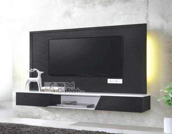 Các mẫu kệ tivi treo tường đẹp, tiết kiệm diện tích - cac mau ke tivi treo tuong dep tiet kiem dien tich 44
