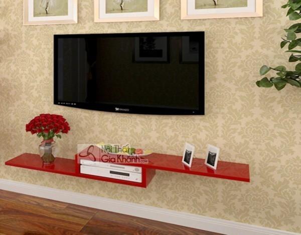 Các mẫu kệ tivi treo tường đẹp, tiết kiệm diện tích - cac mau ke tivi treo tuong dep tiet kiem dien tich 45
