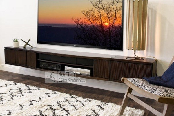 Các mẫu kệ tivi treo tường đẹp, tiết kiệm diện tích - cac mau ke tivi treo tuong dep tiet kiem dien tich 46