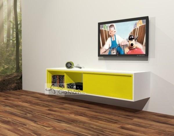 Các mẫu kệ tivi treo tường đẹp, tiết kiệm diện tích - cac mau ke tivi treo tuong dep tiet kiem dien tich 49