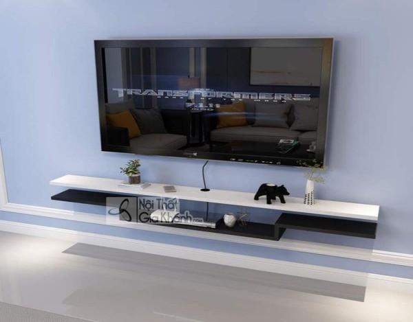 Các mẫu kệ tivi treo tường đẹp, tiết kiệm diện tích - cac mau ke tivi treo tuong dep tiet kiem dien tich 5