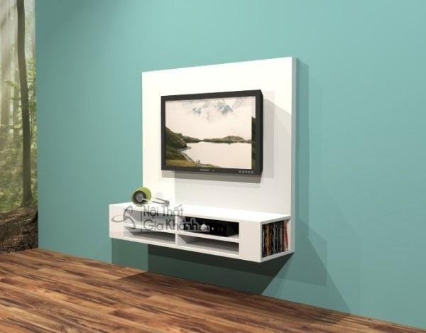 Các mẫu kệ tivi treo tường đẹp, tiết kiệm diện tích - cac mau ke tivi treo tuong dep tiet kiem dien tich 50