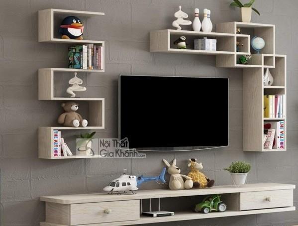 Các mẫu kệ tivi treo tường đẹp, tiết kiệm diện tích - cac mau ke tivi treo tuong dep tiet kiem dien tich 8