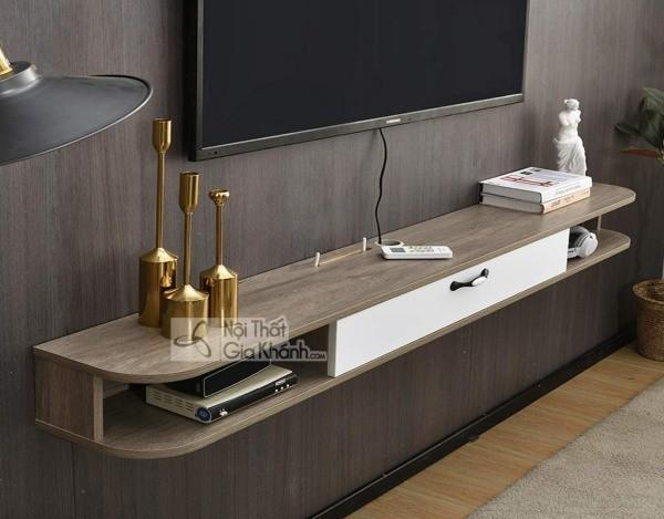 Các mẫu kệ tivi treo tường đẹp, tiết kiệm diện tích - cac mau ke tivi treo tuong dep tiet kiem dien tich 9