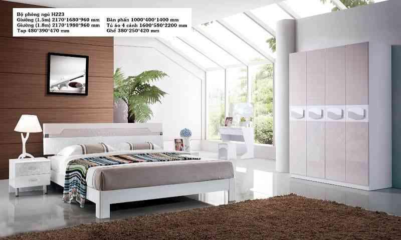 Bộ phòng ngủ phong cách hiện đại HĐ223BG