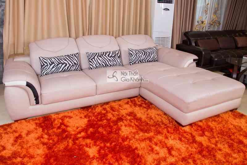 Sofa bọc da thật giá rẻ Gia Khánh - 919 kem goc trai 14 e1511773091991