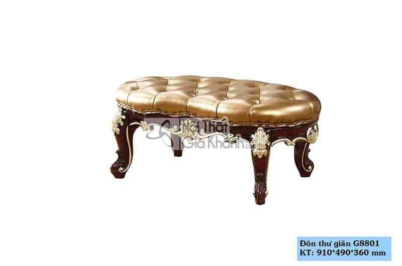 Đôn sofa tân cổ điển màu nâu sang trọng G8801ĐT - Don thu gian G8801 1