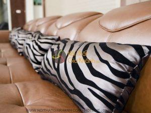 Sofa da thật góc trái 3 băng 9191B