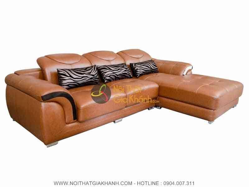 Sofa da hiện đại góc trái 2 băng 9193