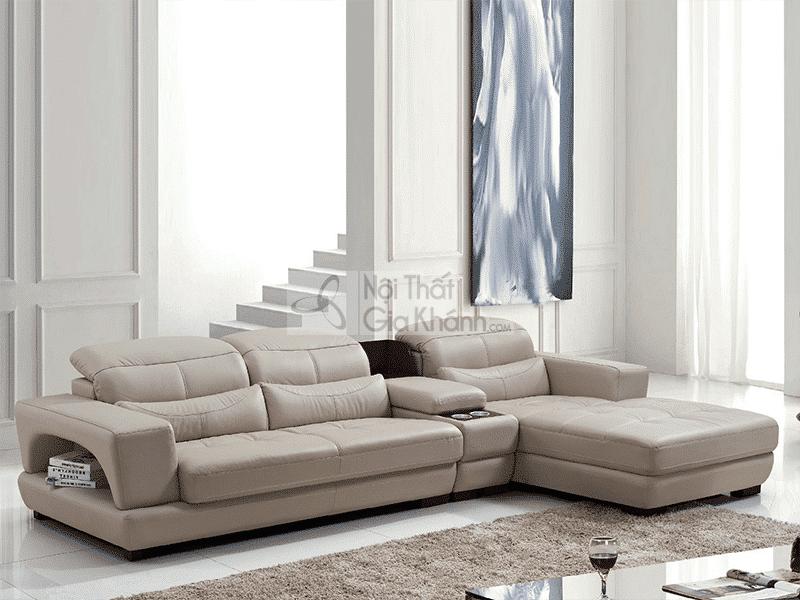 Sofa da nhập khẩu góc trái 3 băng 6756